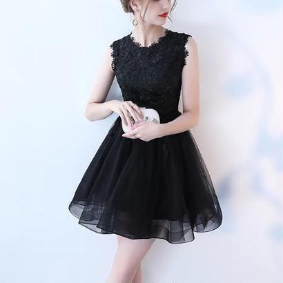 花柄 刺繍 ドレス パーティーワンピース 女子力 チュール 大きいサイズ有