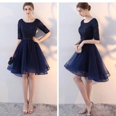 新作♡ 結婚式ドレス チュール フィッシュテイル ネイビー ブラック