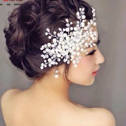 浴衣に~パール真珠髪飾り
