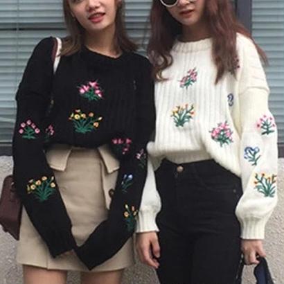 SALE #flower柄ニットレディーストップス