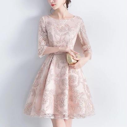 新作♡ 結婚式ドレス レース ミニワンピース パーティードレス