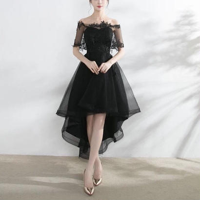 ドレス フィッシュテール 花柄 刺繍ワンピース 2点セット