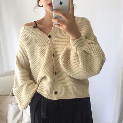 新作♡ トップス カーディガン ボリューム袖 4色