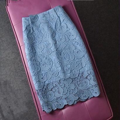 エレガント レース刺繍スカート 3色 タイトスカート