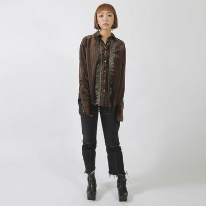 先行予約【SARA YOSHIDA×CNLZ】Fringe Shirt 吉田沙良デザイン フリンジシャツ