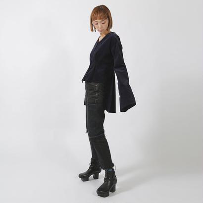 先行予約【SARA YOSHIDA×CNLZ】V Shirt EMBI 吉田沙良デザイン 燕尾型シャツ