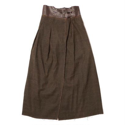 【CNLZ】High Waist Wrapped Skirt / シーエヌエルゼット ハイウエストラップスカート