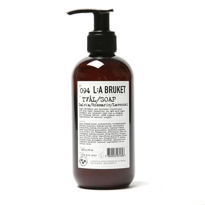OUTLET【L:A BRUKET】SOAP /リラブルケット  094 リラックス・リキッドソープ(セージ・ローズマリー・ラベンダー)