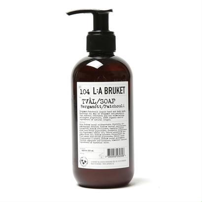 【L:A BRUKET】SOAP/リラブルケット  104 ファーミング・リキッドソープ (ベルガモット・パチョリ)