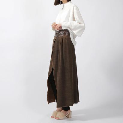 先行予約【CNLZ】High Waist Wrapped Skirt / シーエヌエルゼット ハイウエストラップスカート