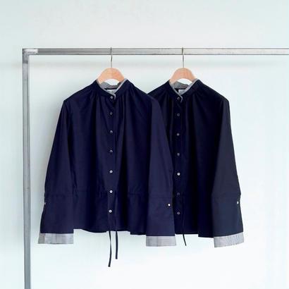 【CNLZ】Double collar blouse/シーエヌエルゼット ダブルカラー ブラウス