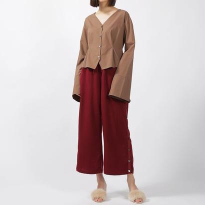 先行予約【CNLZ×Sara Yoshida】Silky Drawstring Pants  Slit&Sports SARA ver. / シーエヌエルゼット スリットパンツ 吉田沙良デザイン