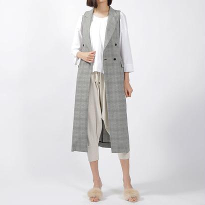先行予約【CNLZ】Sleeveless Long Jacket / シーエヌエルゼット  ノースリーブロングジャケット ジレ