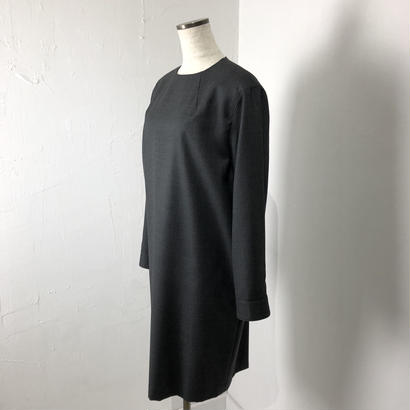 helder     ウールサージクルーネックドレス (グレー)