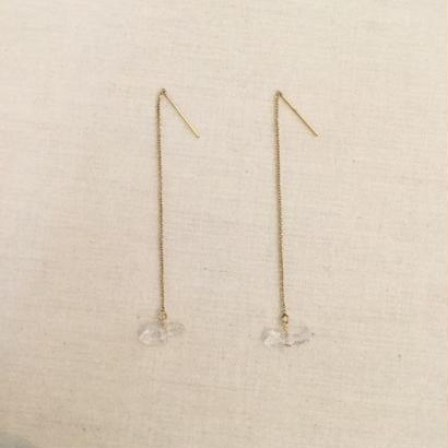 [Fision]耳飾り/水晶1.5