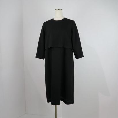 nooy フォーマル ブラックケープドレス