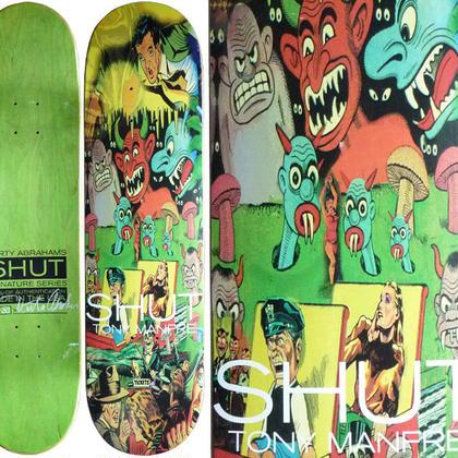 SALE! セール! SHUT NYC x  MARTY ABRAHAMS  TONY MANFRE DECK  (8 x 31.6inch)