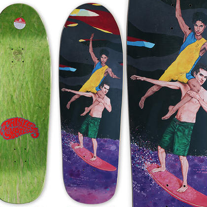 PAISLEY SKATES x CHRIS REED IT'S GOING TO BE  LONELY BY MYSELF DECK   (9.75 x 32.375inch)