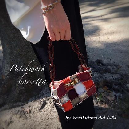 人気♡Patchwork borsettaパッチワークのミニバッグ