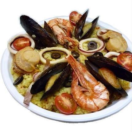 着いたらすぐに食べられる、バルランテ 魚介の旨みパエリア完全調理品