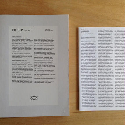 FILLIP issue no.17 Fall 2012