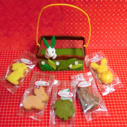 グリーンうさぎちゃんケースに焼き菓子5種類詰め合わせ♪(*^▽^*)
