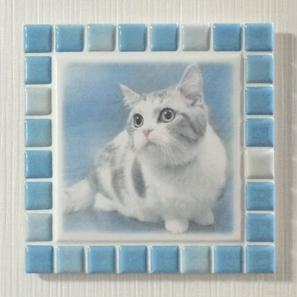 ブライトカラー/スカイブルー(L)◆Tile Picture Frame(L)/Bright Tone/SKY BLUE◆