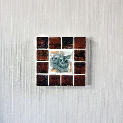 アンティークカラー/ガナシュブラウン(S)◆Tile Picture Frame(S)/Antique Tone/GANACHE BROWN◆