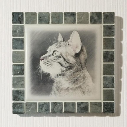 アンティークカラー/グレー(L)◆Tile Picture Frame(L)/Antique Tone/GRAY◆