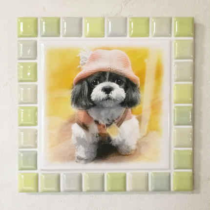 ブライトカラー/イエロー(L)◆Tile Picture Frame(L)/Bright Tone/YELLOW◆