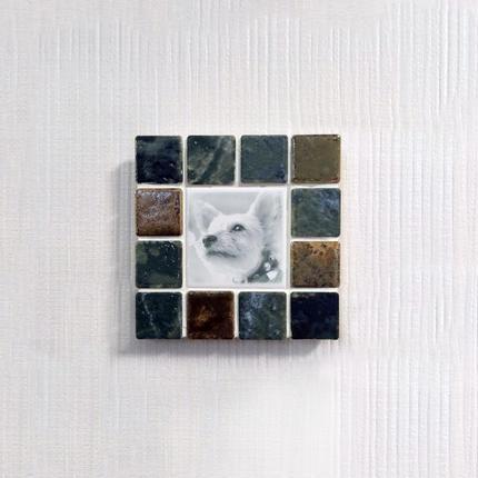 アンティークカラー/ウィザードリーフス(S)◆Tile Picture Frame(S)/Antique Tone/WITHERED LEAVES◆