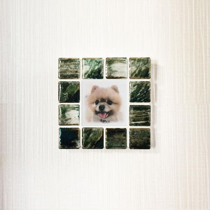 アンティークカラー/グラッシーグリーン(S)◆Tile Picture Frame(S)/Antique Tone/GRASSY GREEN◆