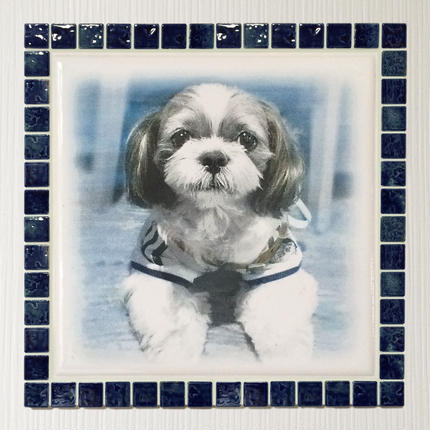 アンティークカラー/ネイビーブルー(XL)◆Tile Picture Frame(XL)/Antique Tone/NAVY BLUE◆
