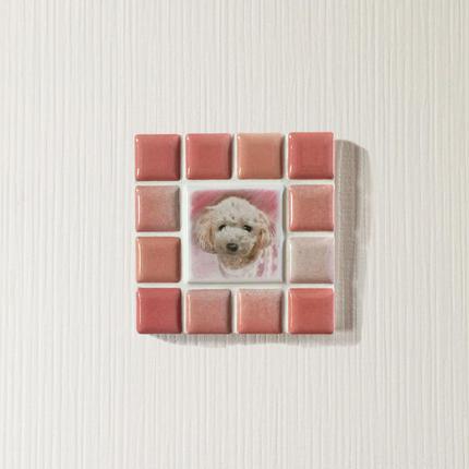 ブライトカラー/フレンチローズ(S)◆Tile Picture Frame(S)/Bright Tone/FRENCH ROSE◆
