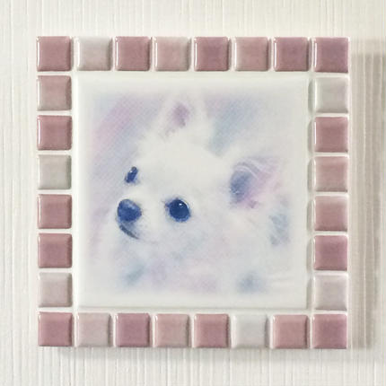ブライトカラー/オーキッド(L)◆Tile Picture Frame(L)/Bright Tone/ORCHID◆