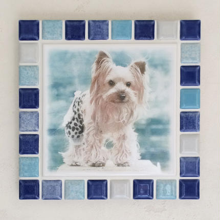 ブライトカラー/ブルー(L)◆Tile Picture Frame(L)/Bright Tone/BLUE◆
