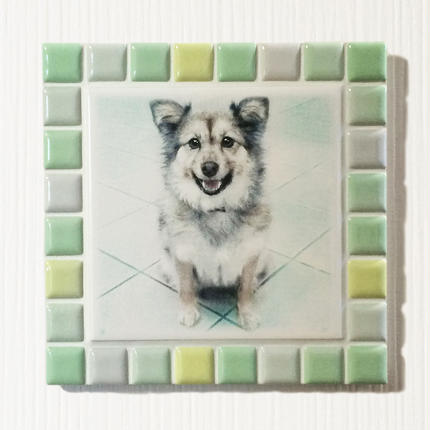 ブライトカラー/フレッシュグリーン(L)◆Tile Picture Frame(L)/Bright Tone/FRESH GREEN◆