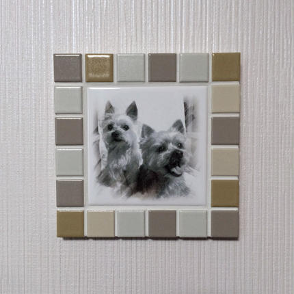 マットカラー/オークル(M)◆Tile Picture Frame(M)/Matte Tone/OCHER◆