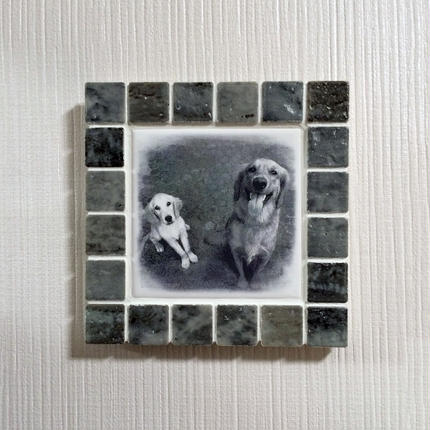 アンティークカラー/グレー(M)◆Tile Picture Frame(M)/Antique Tone/GRAY◆