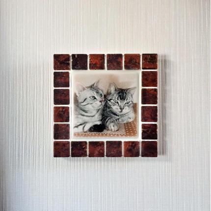 アンティークカラー/ガナシュブラウン(M)◆Tile Picture Frame(M)/Antique Tone/GANACHE BROWN◆