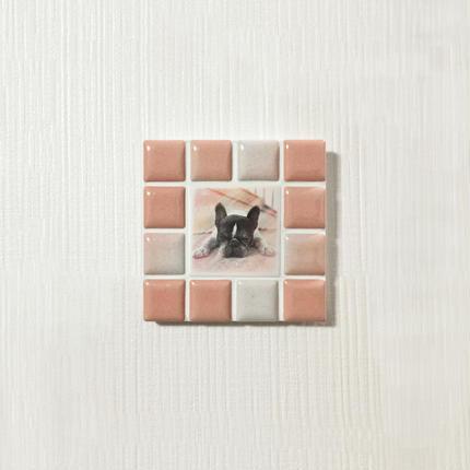 ブライトカラー/サーモンピンク(S)◆Tile Picture Frame(S)/Bright Tone/SALMON PINK◆