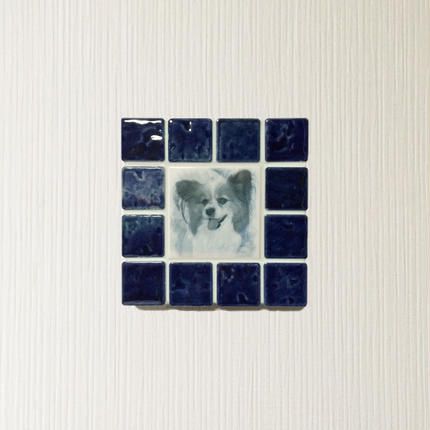 アンティークカラー/ネイビーブルー(S)◆Tile Picture Frame(S)/Antique Tone/NAVY BLUE◆