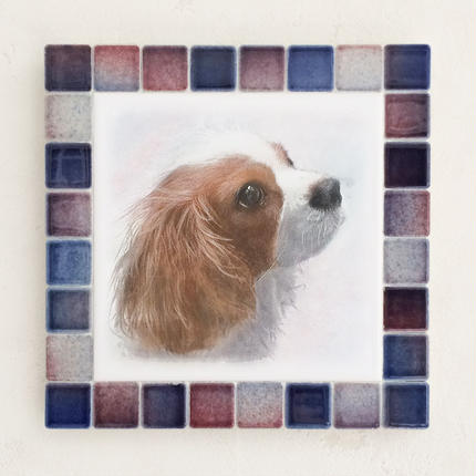 フォギーカラー/レッドブルー(L)◆Tile Picture Frame(L)/Foggy Tone/RED-BLUE◆