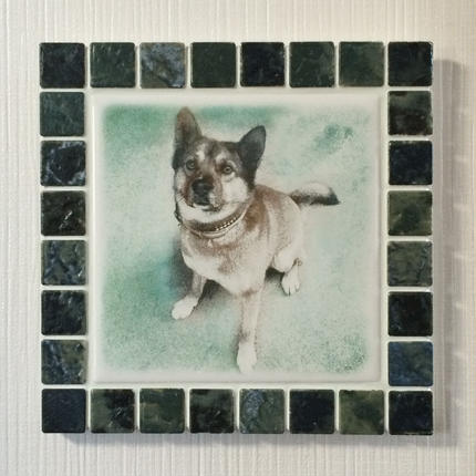 アンティークカラー/ジェードグリーン(L)◆Tile Picture Frame(L)/Antique Tone/JADE GREEN◆