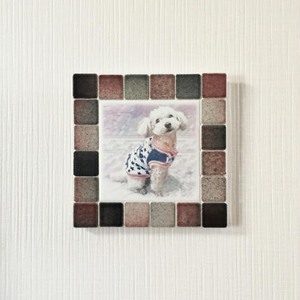 フォギーカラー/ブラックレッド(M)◆Tile Picture Frame(M)/Foggy Tone/BLACK-RED◆