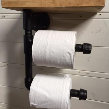 ガス管 トイレットペーパーホルダー 2個用 現品限り