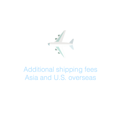 Additional shipping fees: Asia and U.S. overseas