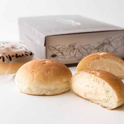 奥久慈卵のとろーりクリームパン 10個入り    送料込み(一部地域除く)