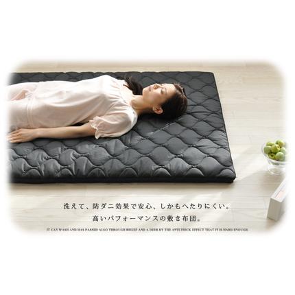 ブレスエアー®×東洋紡アルファイン® 丸ごと洗える防ダニ敷き布団 セミダブルサイズ