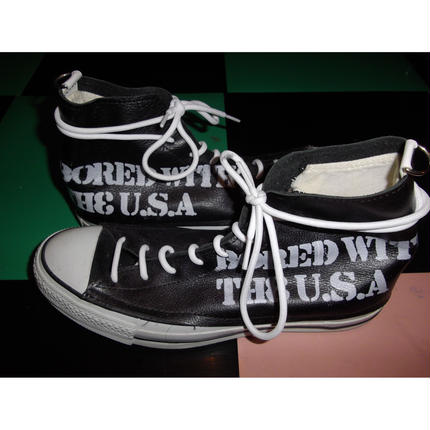 CONVERSE REMAKE LEATHER SNEAKERS/BLACK